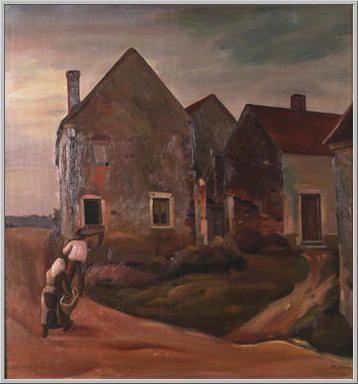 Mario Tozzi 1922: I Contadini Tornano a Casa. Olio su Tela cm.88x83 - Collezione eredi Brunetti-Laderchi Bologna - Archivio n. 1670 - Catalogo n. 22/8.