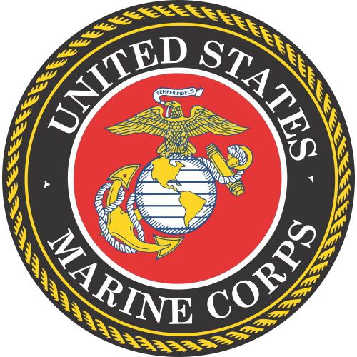 US Marine Corps logo light t shirt iron on transfer ...