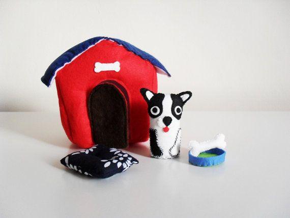 French Bulldog Mini Soft Felt Play Set. Soft Dog Play by Minorca, €24.90