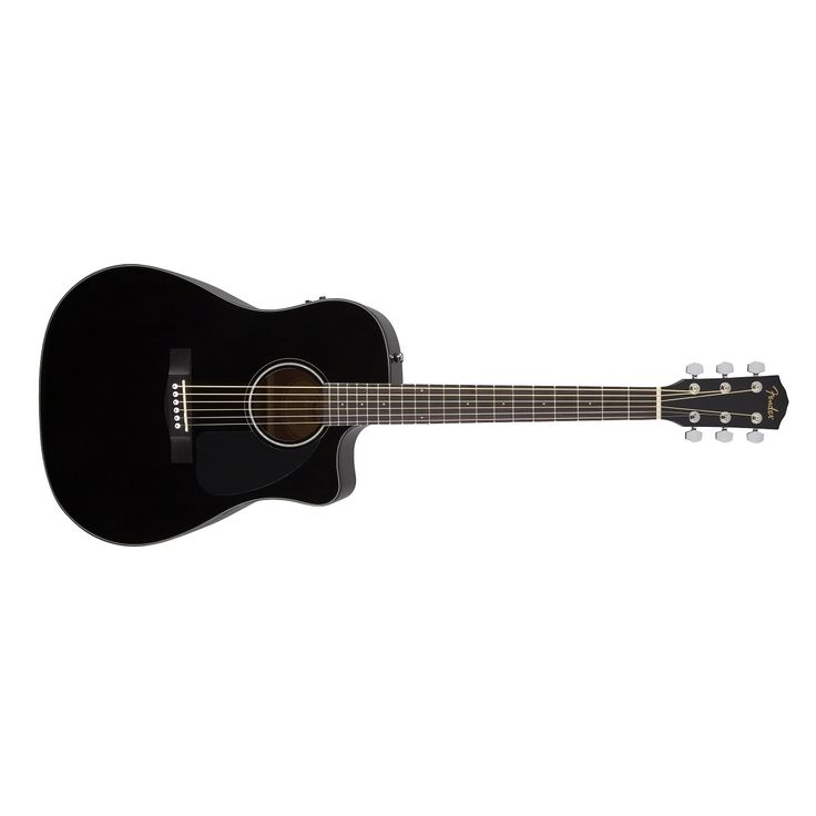 Fender CD-60CE Acoustic Electric Guitar in Black. Comes with Case.