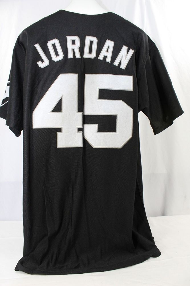 238197192a7 Chicago White Sox Michael Jordan  45 Black Jersey Mitchell   Ness 52  Cooperstown  MitchellNess  ChicagoWhiteSox