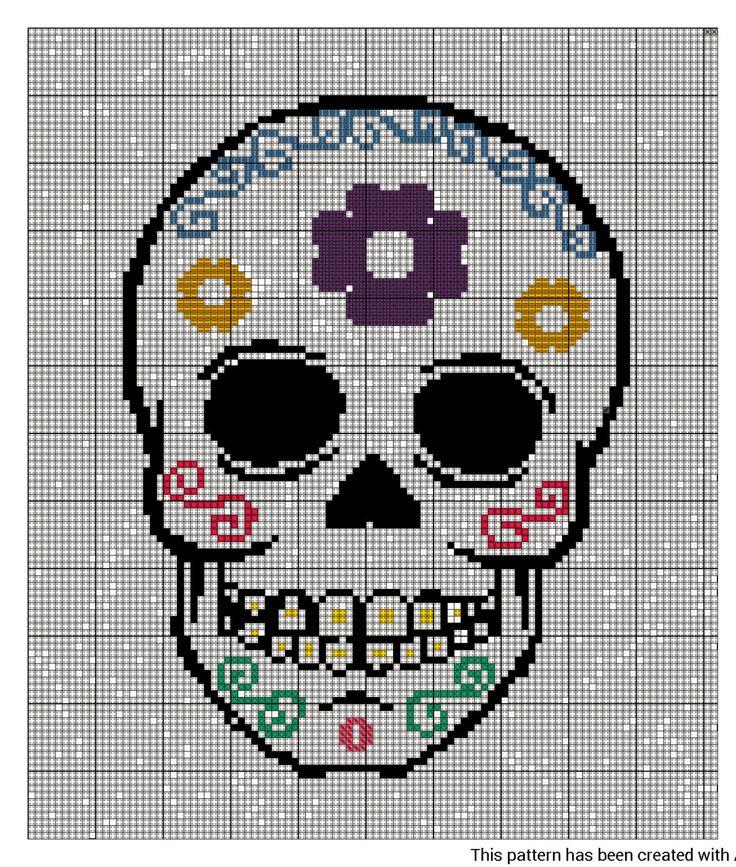 Sugar Skull Cross Stitch Pattern by GwynsGifts on Etsy, £1.99
