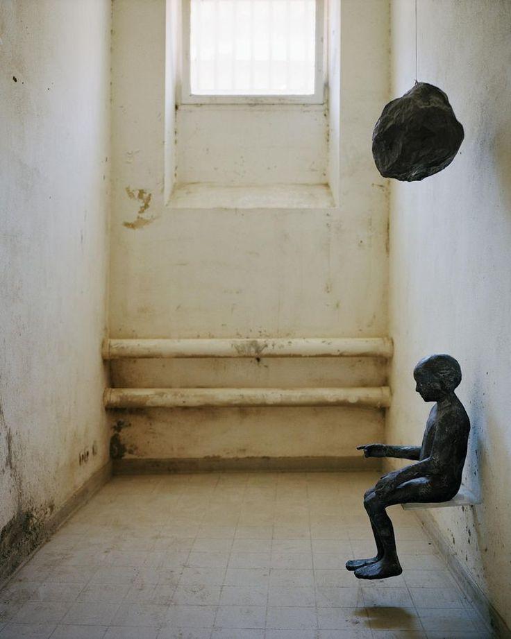 Girl With Globe   -    1998   - Kiki Smith    -   La disparition des lucioles, prison Sainte-Anne   -   Avignon      -     -       Stéphane Mahot photography   -   https://www.flickr.com/photos/29248605@N07/14777328462/