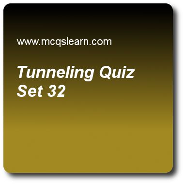 Tunneling Quizzes: computer networks Quiz 32 Questions and Answers - Practice networking quizzes based questions and answers to study tunneling quiz with answers. Practice MCQs to test learning on tunneling, controlled access, ipv6 addresses, stream control transmission protocol (sctp), switching in networks quizzes. Online tunneling worksheets has study guide as packets are called datagrams at, answer key with answers as ipv4 layer, ipv6 layer, session layer and presentation layer to test..