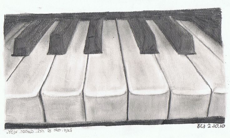 Drawing of a Piano... I like this one! :)