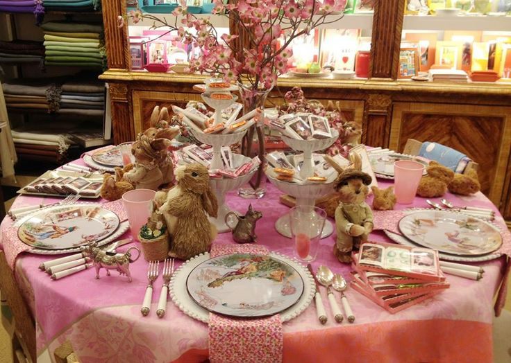 Easter table Setting at Sue Fisher King in San Francisco
