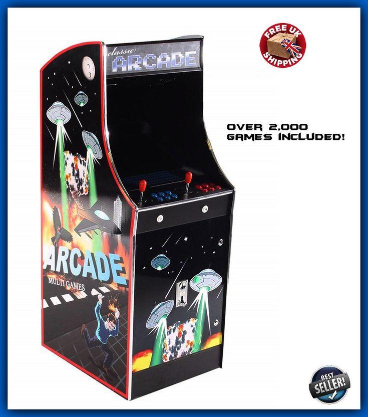 Retro Arcade Machine 2000 Video Game Multi Play Stand Up