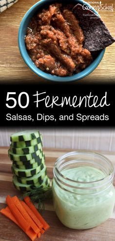 50 Fermented Salsas, Dips, & Spreads | My family are huge fans of my homemade salsa, bean dip, and pesto -- which are all lacto-fermented. As I put together this round-up of 50 amazingly healthy and colorful fermented salsas, dips, and spreads, my eyes were opened to all the ways I can add even more beneficial bacteria into our foods... and probably without anyone noticing. ;)