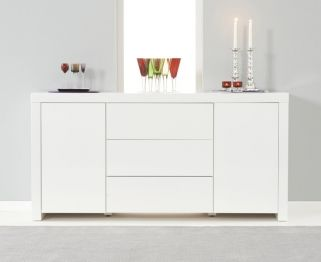 Hereford White High Gloss Sideboard - 2 Doors 3 Drawers