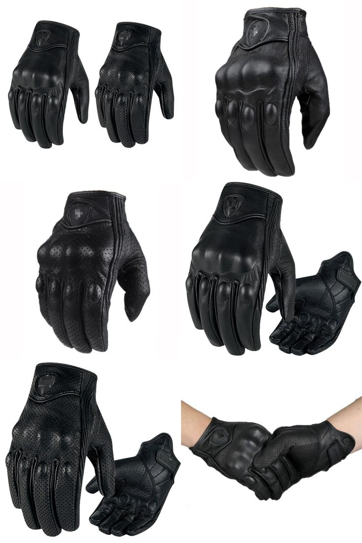 Icon justice leather motorcycle gloves -  Visit To Buy Motorcycle Gloves Retro Pursuit Icon Perforated Real Leather Moto Waterproof Gloves