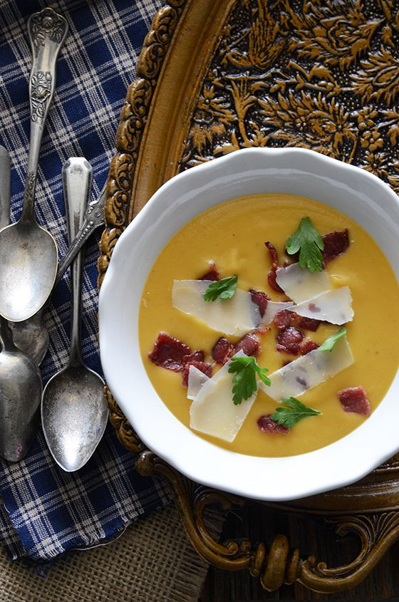 Creamy Sweet Potato Soup, #recipe from the cover of the November 2013 ...