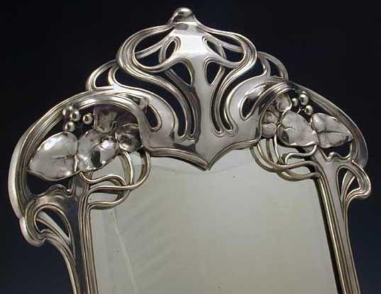 141 best images about wmf on pinterest pewter glasses for Miroir art nouveau