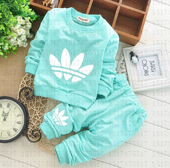 "Find More Clothing Sets Information about 2016 Newborn Baby Clothing Sets Toddler Boys Girls Leisure Suits Long Sleeve T shirts + Pants 2pcs Kids Clothes Free Shipping,High Quality clothing manufacture,China clothes box Suppliers, Cheap clothes from lady gaga""s children clothing  on Aliexpress.com"