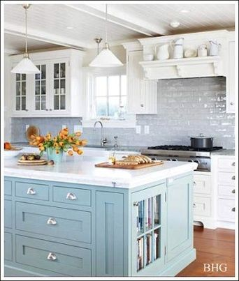 If your kitchen cabinets are in good shape, painting them is an inexpensive way to give the room a facelift. Check out our painted kitchen ideas #kitchen