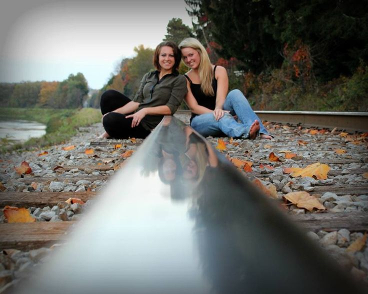 Best friend picture I took of Kayt and Me this autumn on the railroad track #fall #bestfriends #photography
