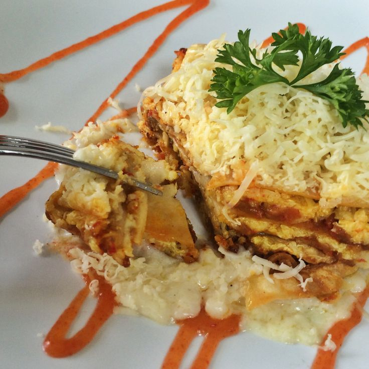 Trans-national cuisine, Lasagna rendang!
