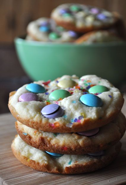Easter confetti cookies