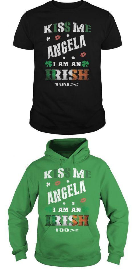 Angela Kiss Me I Am Irish La Angels T Shirt #angela #anaconda #t #shirt #dangelo #russell #t #shirt #free #angela #davis #t #shirt #t #shirt #plombier #angela #merkel