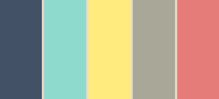 Dorm room colors Navy, mint, yellow, gray, coral                                                                                                                                                      More