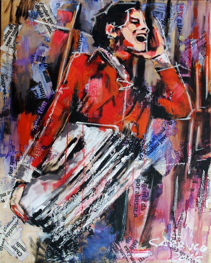 """""""Ardina"""" / """"Paperboy"""" Técnica mista sobre tela / Mixed media on canvas 100 x 80 cm 2015"""
