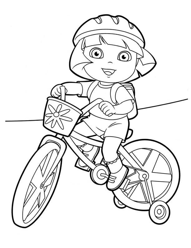 Dora Coloring Pages Riding Bicycle Dora Coloring Coloring Pages Printable Coloring Book