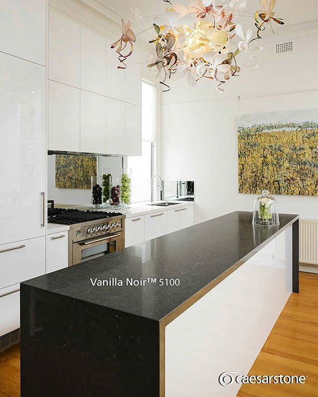 Granite Kitchen Bench Tops: 48 Best Caesarstone Vanilla Noir Images On Pinterest