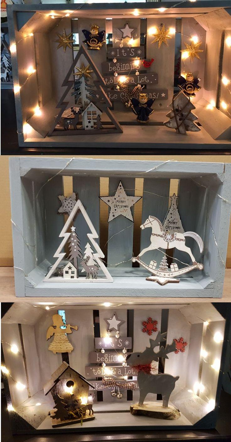 Wat heb je nodig: kistje, lampjes, leuke frutsels en een lijmpistool. Leuk kerstcadeau, suc6 verzekerd :)