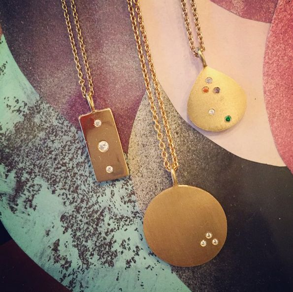LATE SNEAK PEEK  LOVELY GLAM TRIO  we can't wait to wear GLAM TAG, LOVE COIN & CONFETTI SHELL --- all together ✨ Do you have a favorite??  #plsbechristmasnow #confettishell #glamtag #lovecoin #musthave #mixnmatch #gold #jewelry #love #necklace #sterlingsilver #stineajewelry #stinea