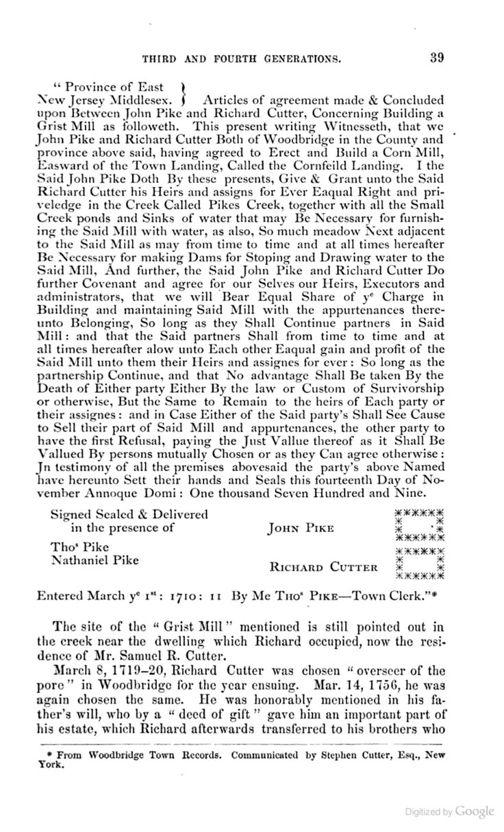 16 best pike family original settlers of woodbury new jersey a history of the cutter family of new england aiddatafo Image collections