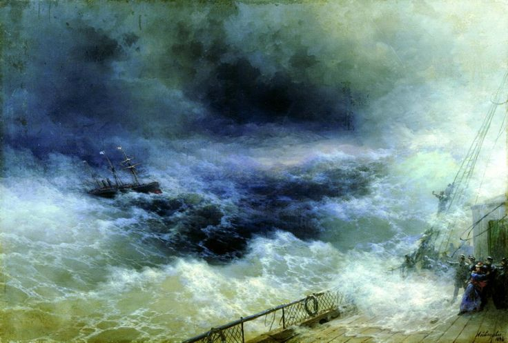 Russian Painter: Ivan Aivazovsky - 'Ocean'