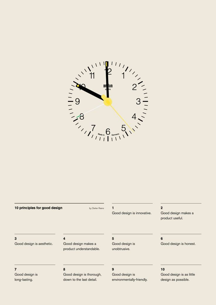 Vintage beautiful Dieter Rams clock print poster typo – We collect similar ones – Only/Once – http://www.onlyonceshop.com