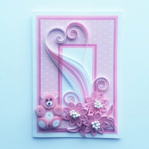 Quilled Valentine S Day Card Valentine Card By Gericards On Etsy