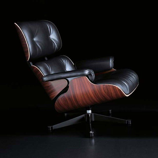 Fancy - Eames Lounge Chair: this beauty in the work room next to a full-wall-top-to-bottom-window