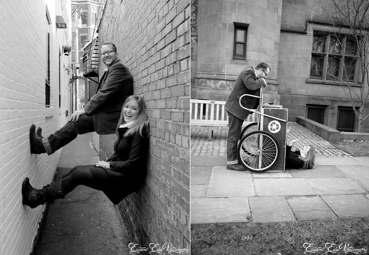 Let your personalities shine!!  Elegant Edge Photography