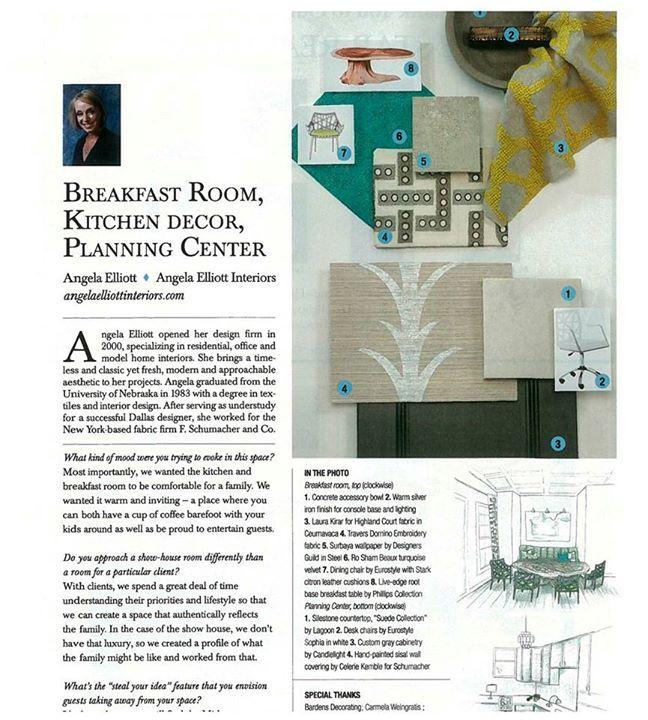 Angela Elliott Interiors Design Breakfast Room Kitchen Dcor Etc Looks Grand In Richmond Magazine Program Book