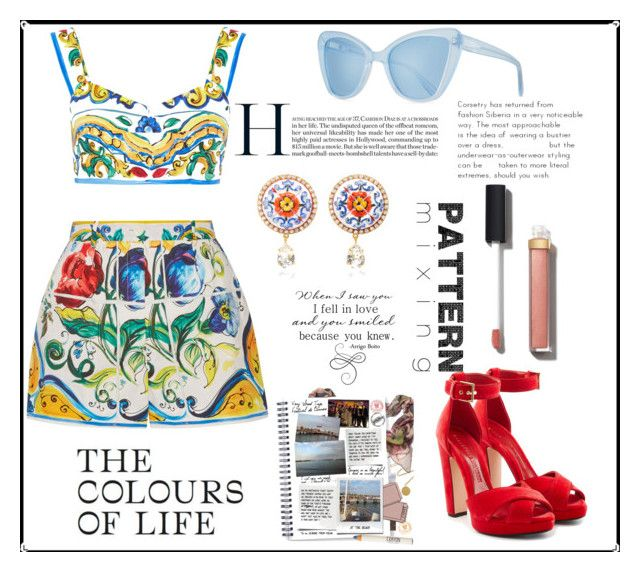 """""""Colors"""" by spookie1 on Polyvore featuring Dolce&Gabbana, Alexander McQueen, Prism, Chanel and Della"""
