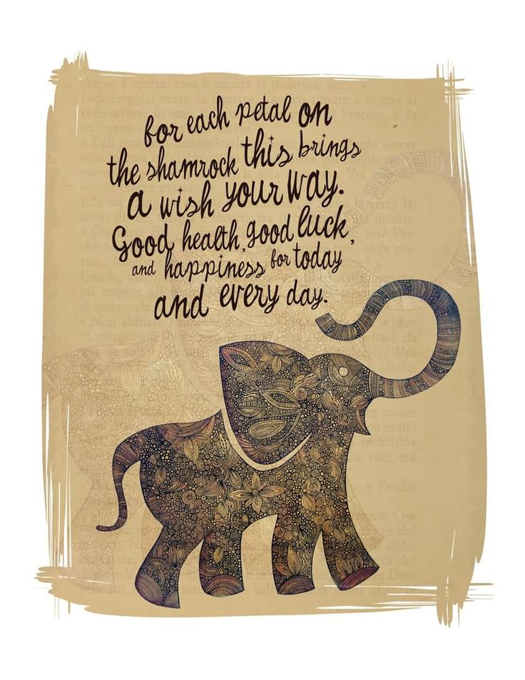 Wish Your Way Good Health And Good Luck Animated Elephant Graphic