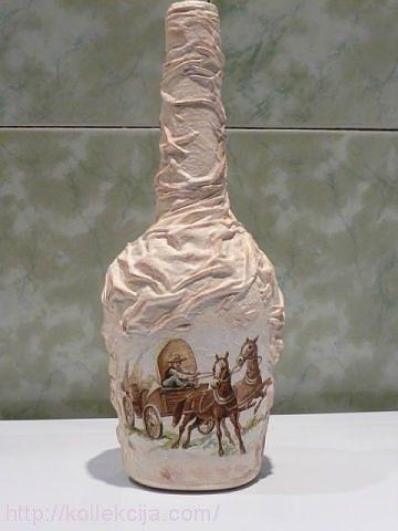 Декор бутылок тканью. Обсуждение на LiveInternet - Российский Сервис Онлайн-Дневников