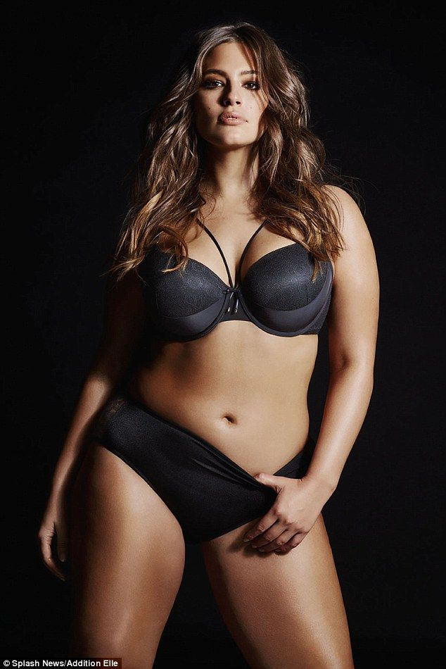 Plus-sized supermodel Ashley Graham, 28, has gone straight from runways shows at New York Fashion Week to starring in a new lingerie campaign for Canadian store Addition Elle