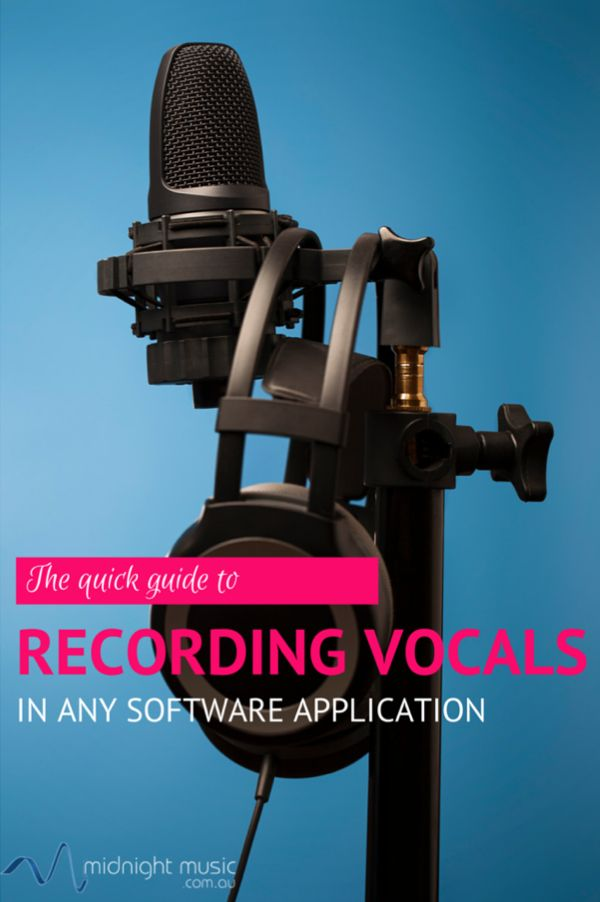Simple steps No matter which software program you're using to record vocals - whether it's GarageBand, Mixcraft, Acid, Logic, Pro Tools, Cubase or the free audio editor Audacity - the basic steps are the same.  Over time, it's likely that you and your students will work in more than one software application and a familiarity