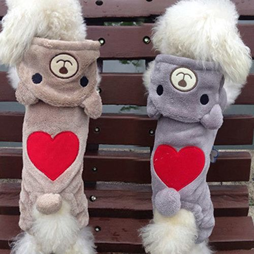 >> Click to Buy << New arrival! Pet Puppy Dog Cat Red Love Heart Bear Hoodie Winter Warm Clothes Jumpsuit Coat Store 243 #Affiliate