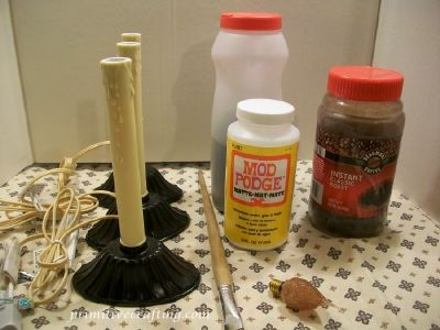 Window candles with a primitive flair! Make your own!