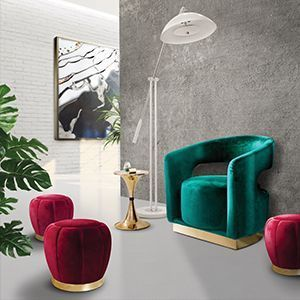 Ellen is a sophisticated armchair, featuring a modern tub design. Built on top of a polished brass base, this accent chair is upholstered with a lustruous velvet and its curvilinear open back contrasts with a rectangular shape on the front. It has a non swivel cylindrical seat perfect for those nostalgic retro lovers, who love a mix between contemporary design and mid-century modern style.