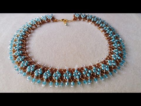 pulsera perla blanca con rombitos negros - YouTube