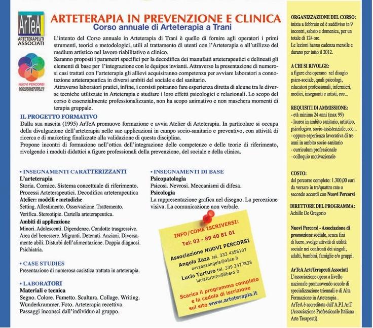 Scuola di arteterapia a Trani