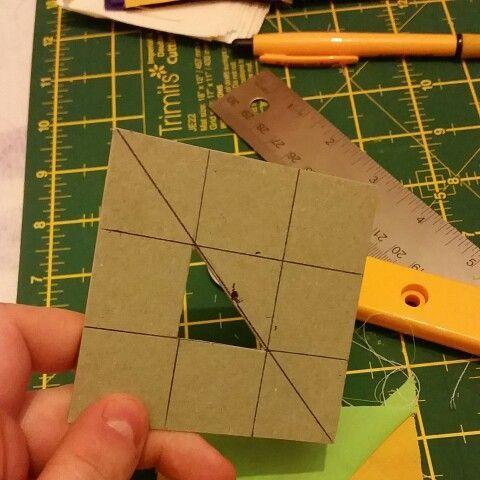 "3"" quilt block I've made."