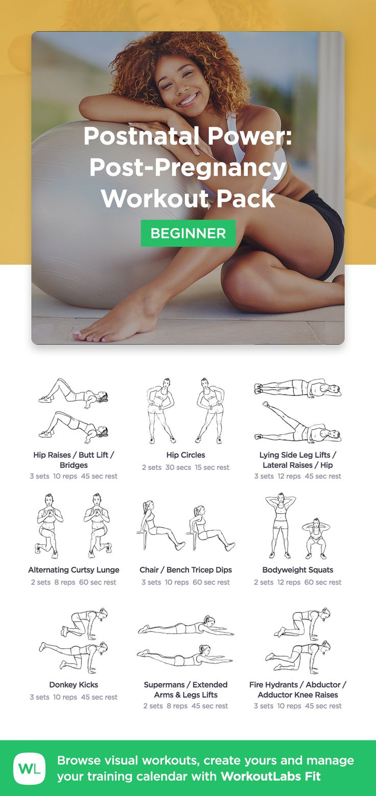 Postnatal Power: Post-Pregnancy Workout Pack by WorkoutLabs Fit · View and download printable PDF: https://workoutlabs.com/s/6yzU1