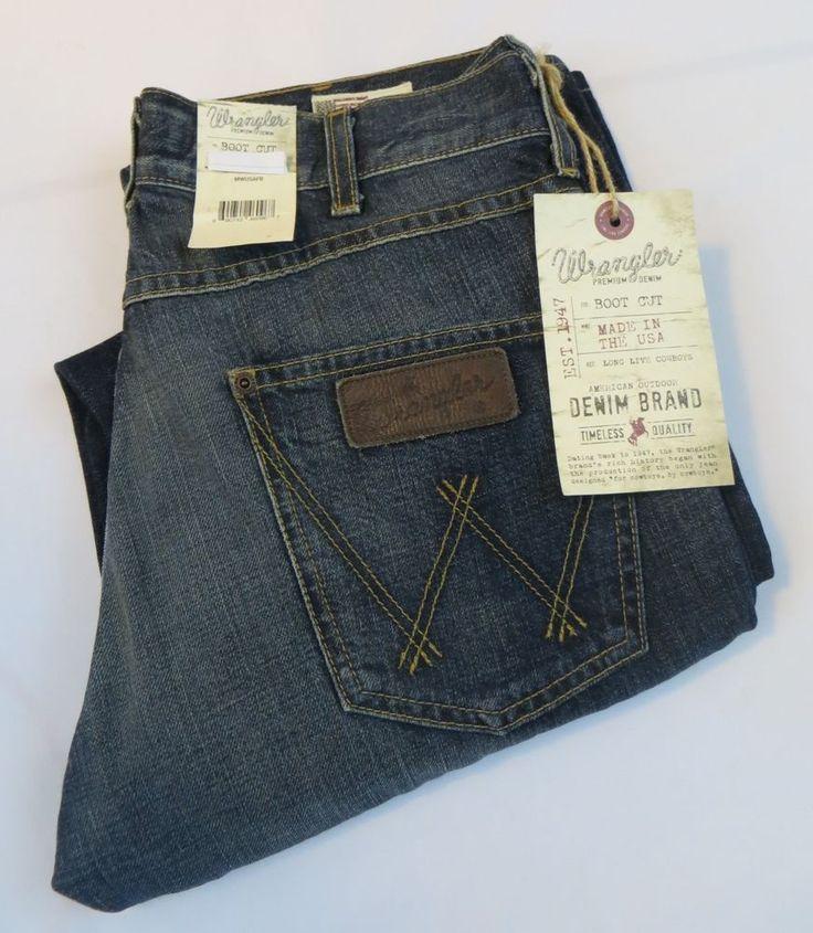 wrangler usa american made rare mwusafb jeans boot cut nwt mens 34 w x 36 l wrangler bootcut. Black Bedroom Furniture Sets. Home Design Ideas
