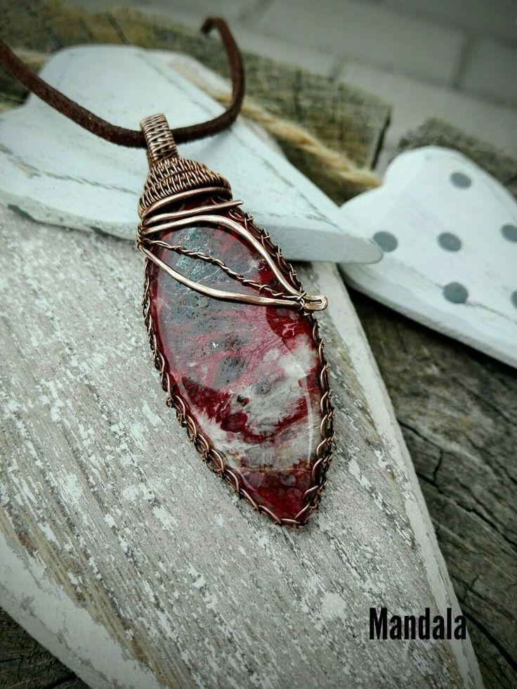 Jasper and tief - copper necklace