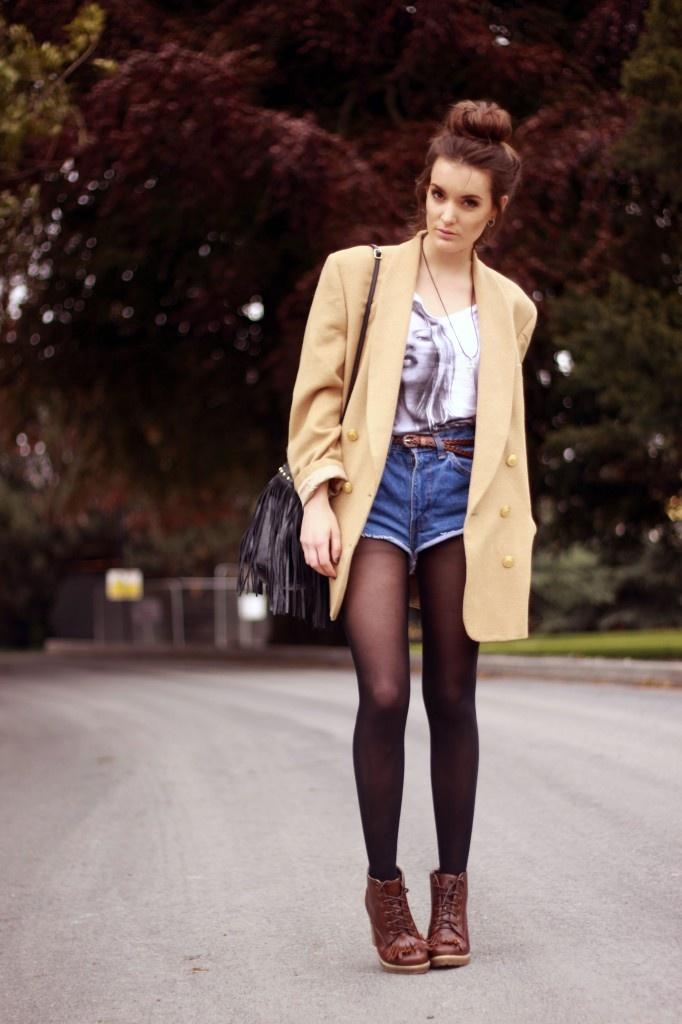 Resultado de imagen de outfit winter shorts blazer